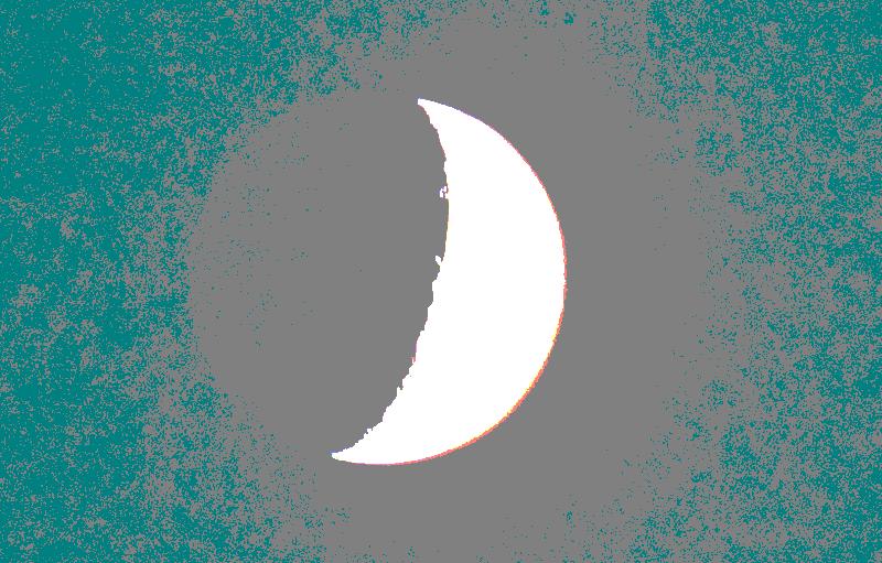 Aufnahme vom zunehmenden Mond