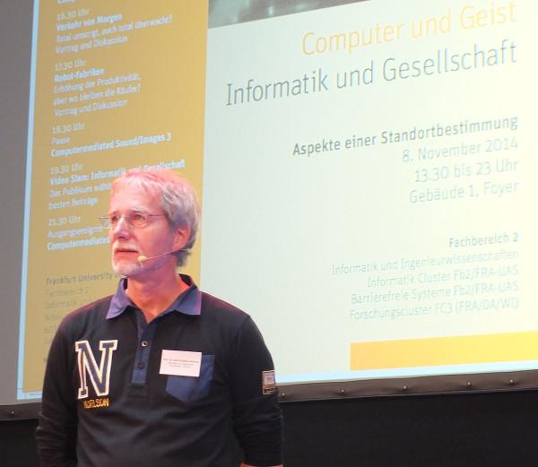 Begrüssung und Moderation von Prof.Dr.Gerd Doeben-Henisch