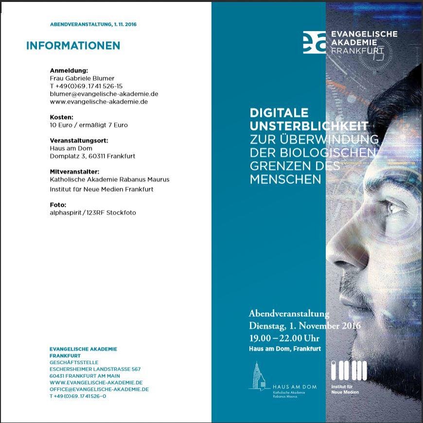 Philosophy-in-Concert als Gast bei der Evangelischen und Katholischen Akademie Frankfurt A