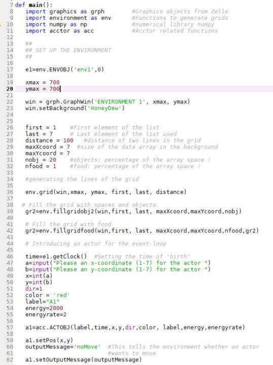 PTextfragment aus einer Wortmachine für künstliche Welten mit Akteuren